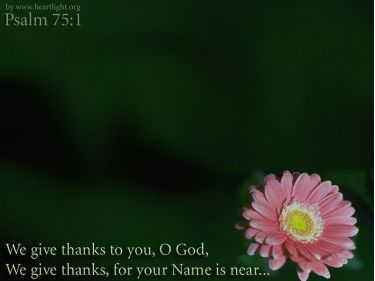 PowerPoint Background: Psalm 75:1 - Main