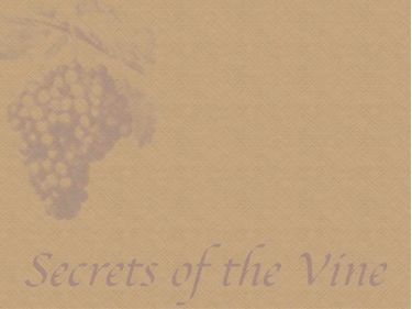 PowerPoint Background: Secrets of the vine