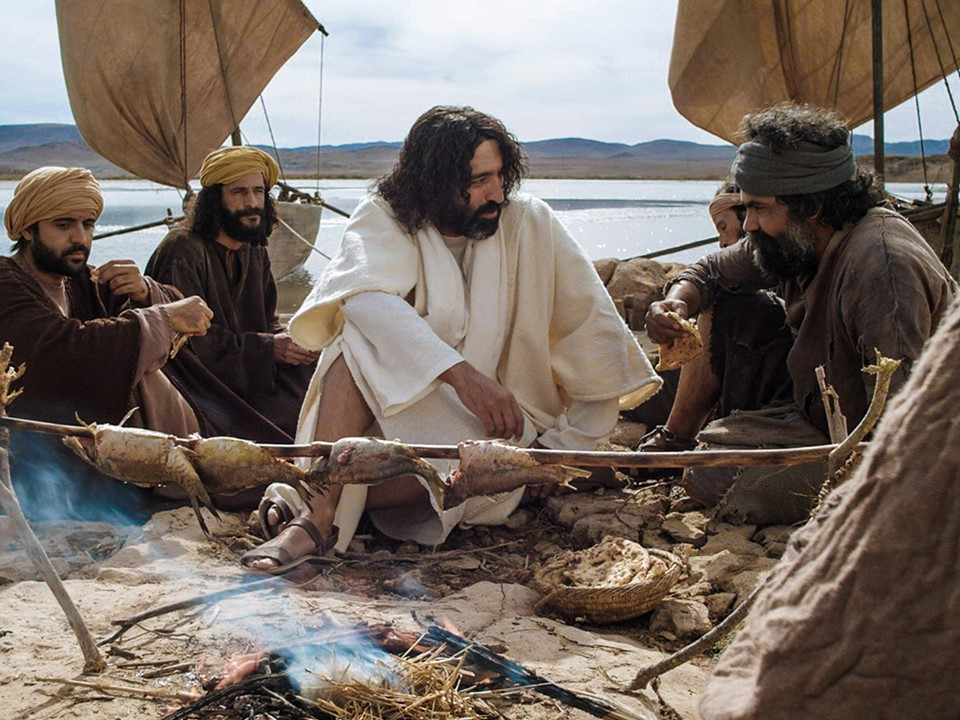 """Image result for jesus cooking fish"""""""