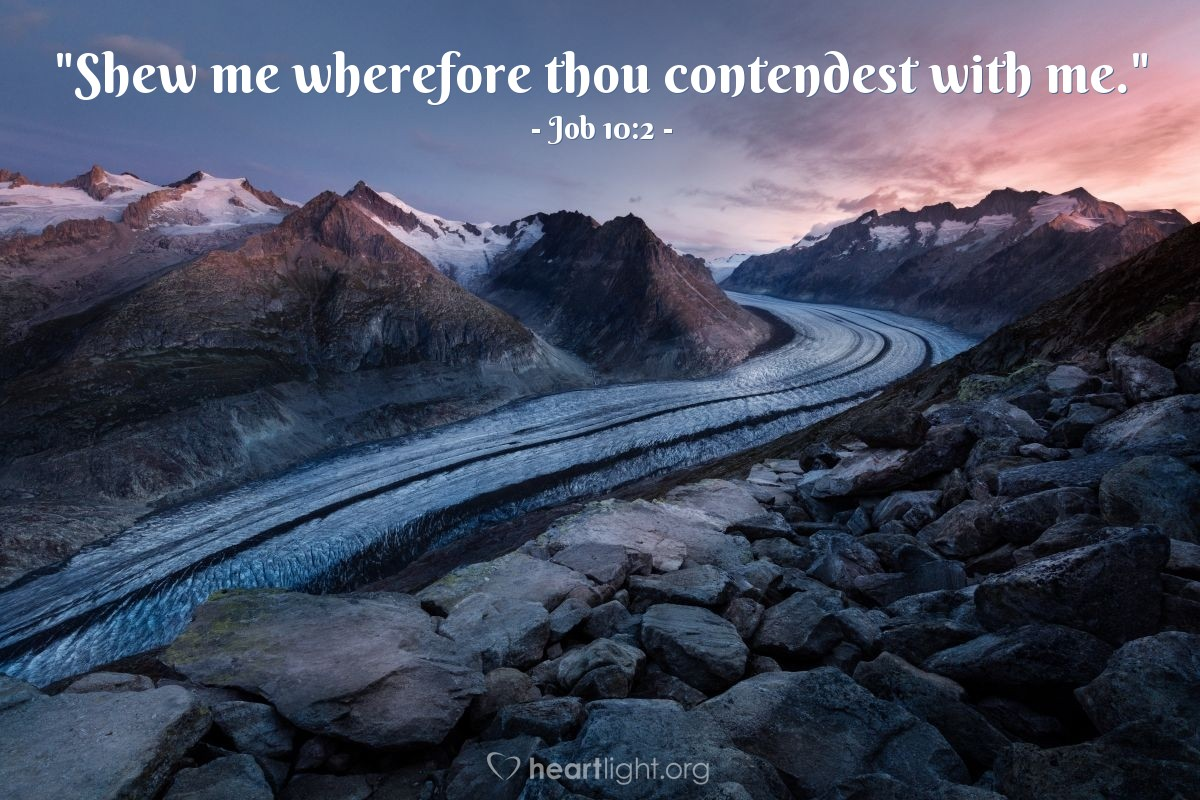 "Illustration of Job 10:2 — ""Shew me wherefore thou contendest with me."""