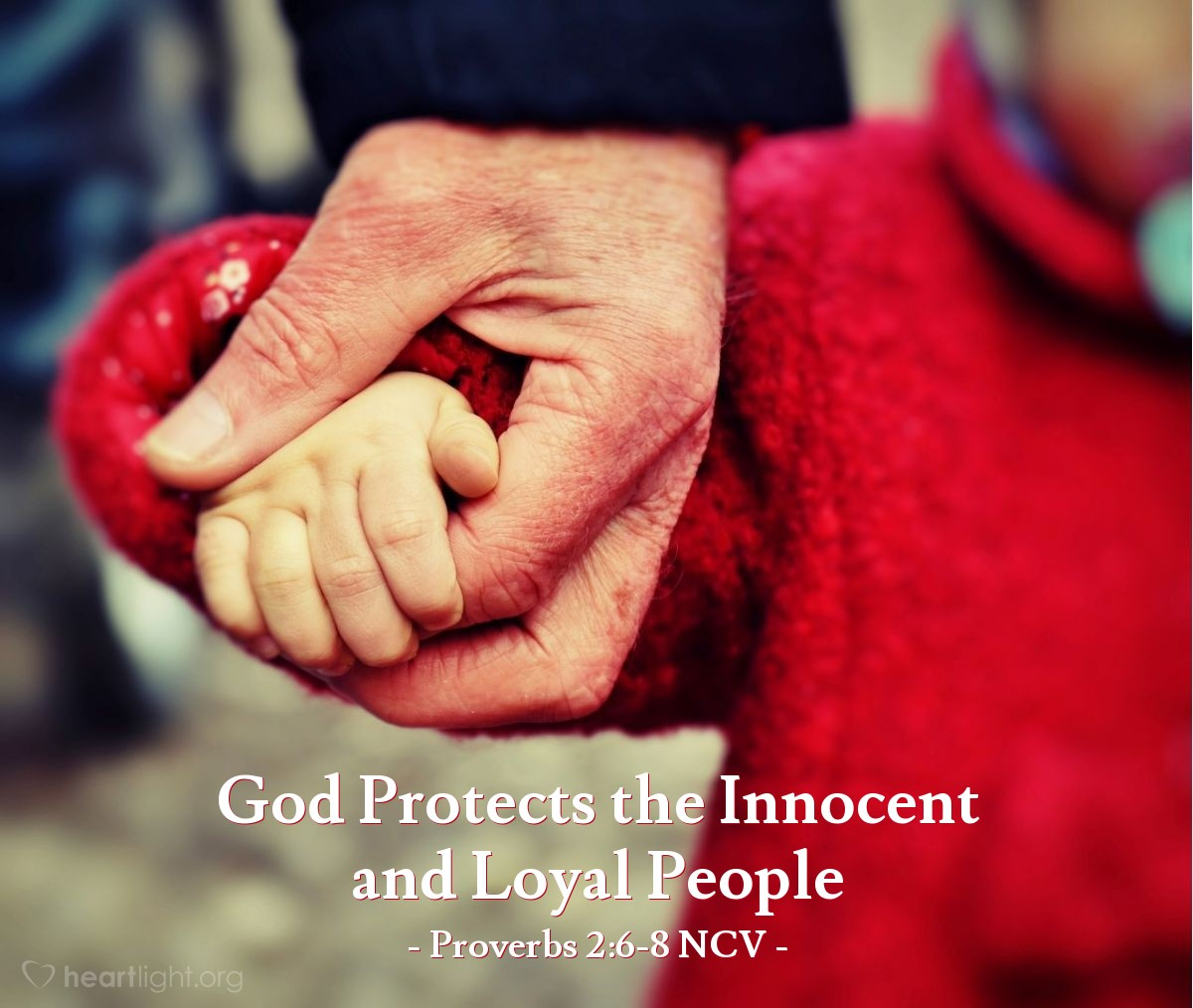 Illustration of Proverbs 2:6-8 NCV — Only the Lord gives wisdom; he gives knowledge and understanding. He stores up wisdom for those who are honest. Like a shield he protects the innocent. He makes sure that justice is done, and he protects those who are loyal to him.