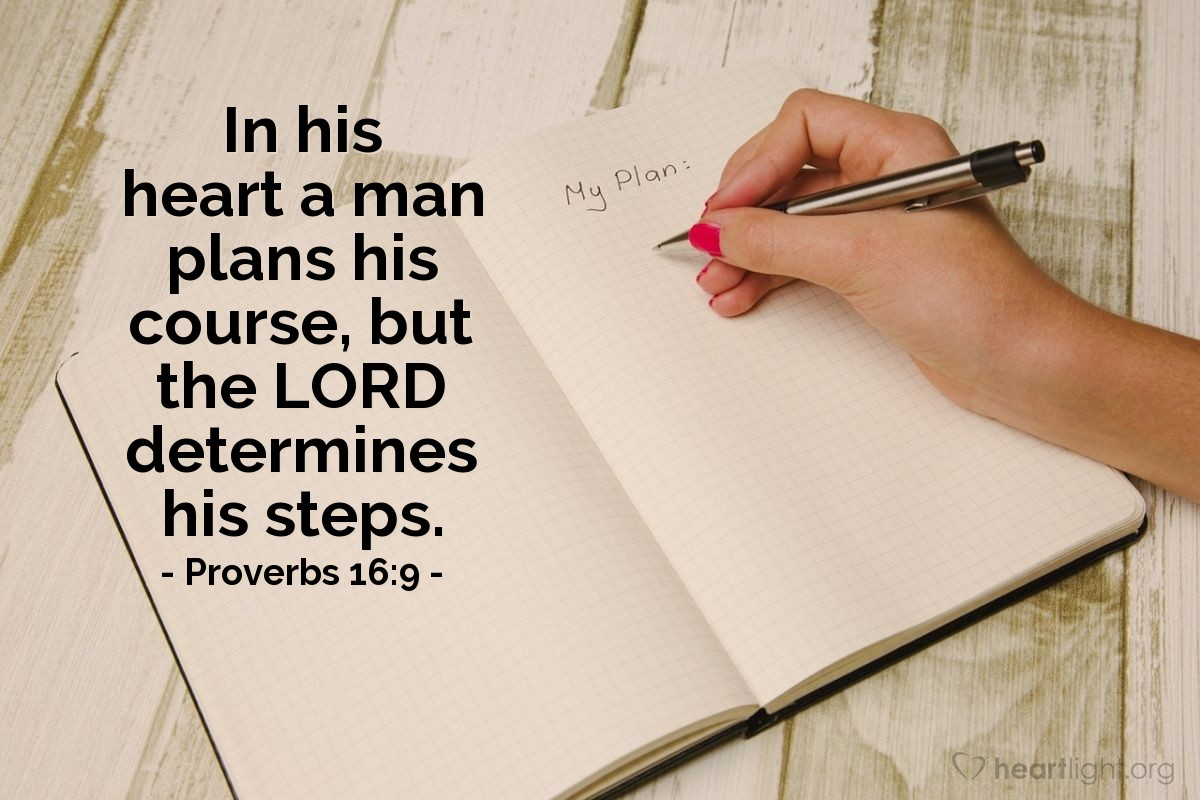 Illustration of Proverbs 16:9 on Heart