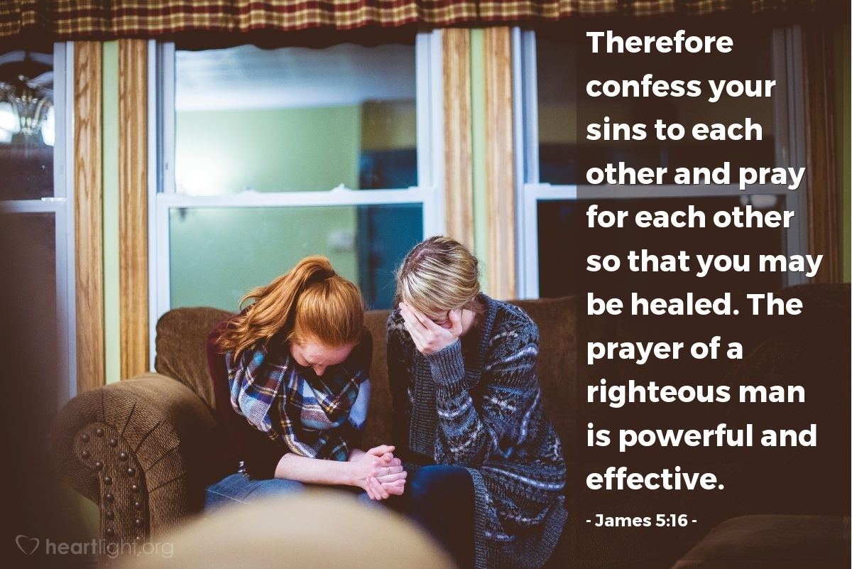 Illustration of James 5:16 on Prayer