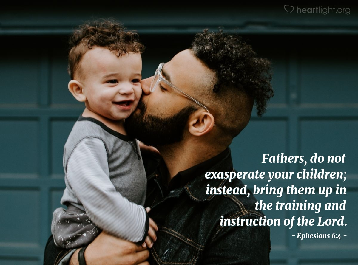 Illustration of Ephesians 6:4 on Fatherhood