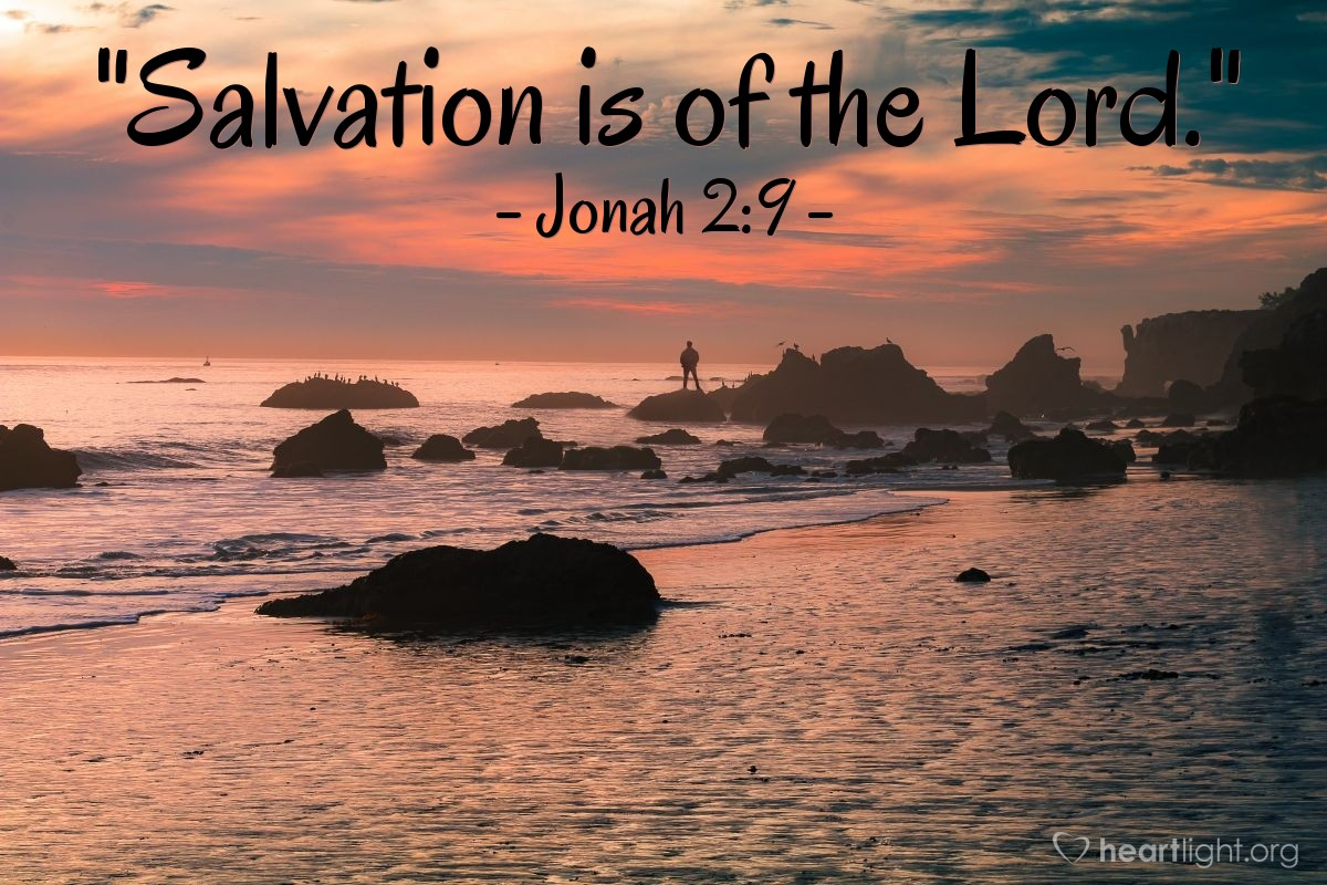 """Illustration of Jonah 2:9 — """"Salvation is of the Lord."""""""