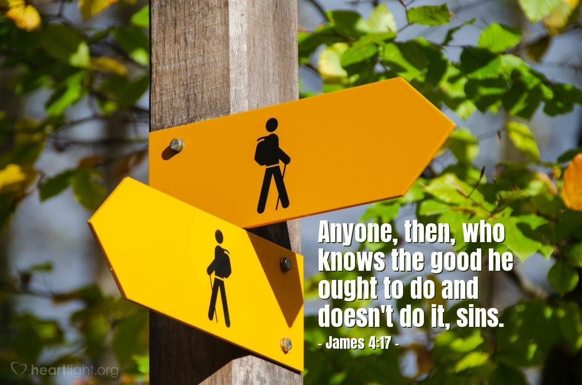 Illustration of James 4:17