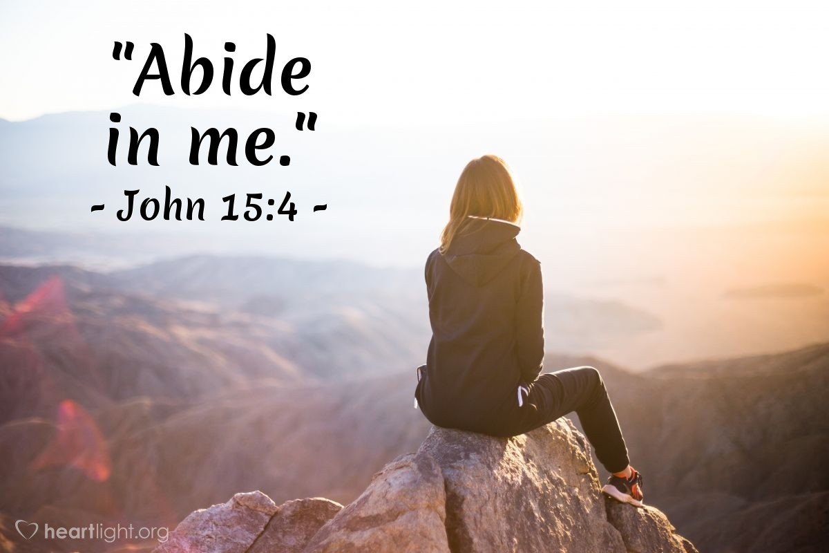 "Illustration of John 15:4 — ""Abide in me."""
