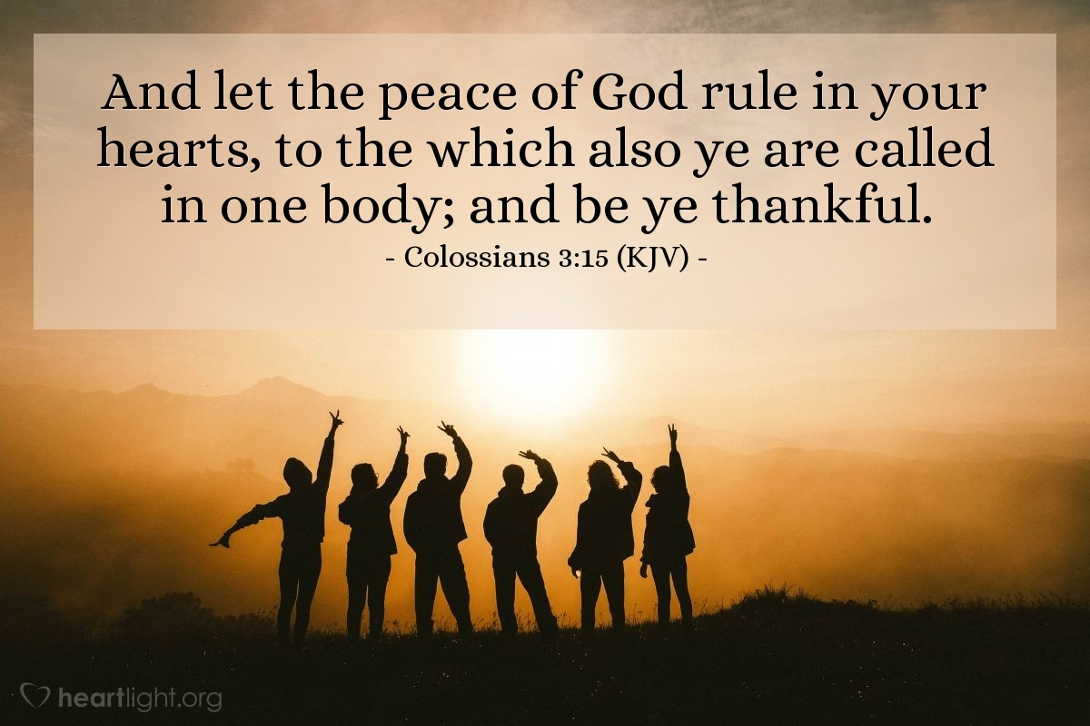 Image result for colossians 3:15 kjv