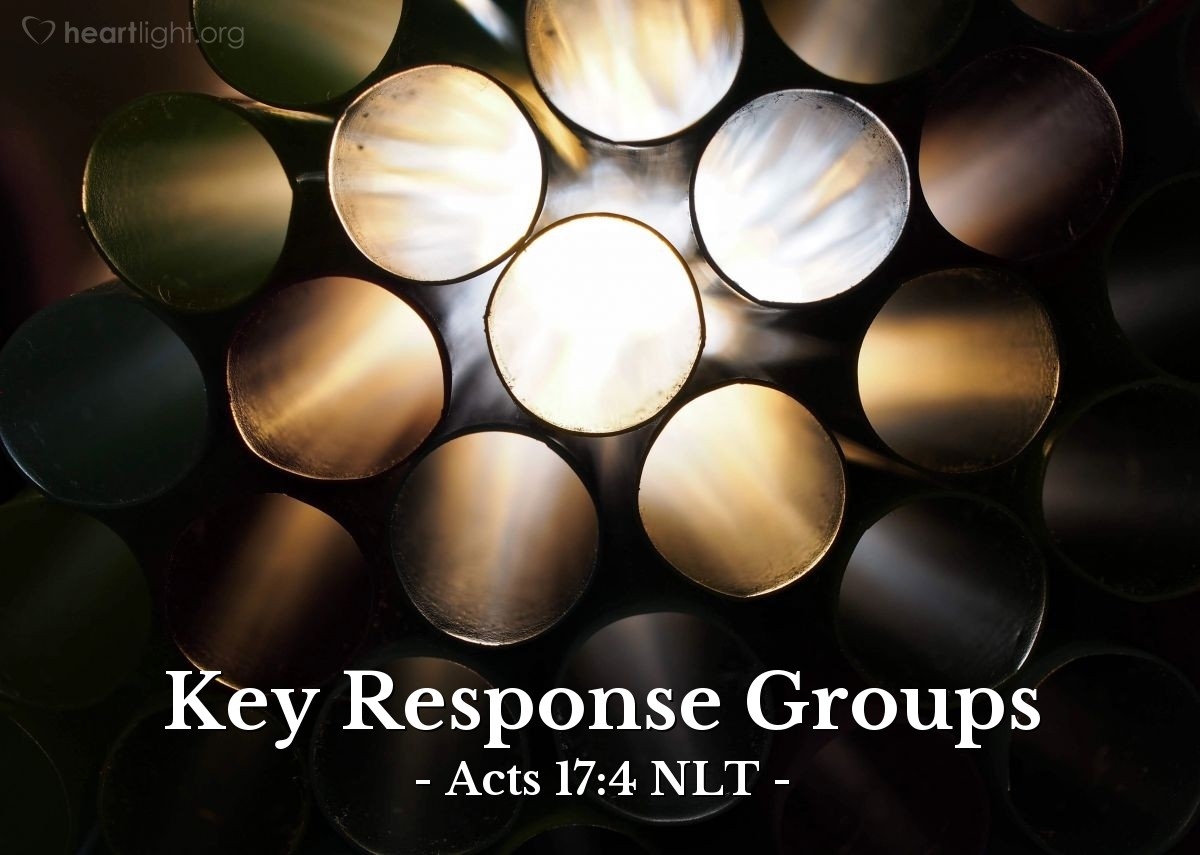Illustration of Acts 17:4 NLT — Some of the Jews who listened [to Paul's proclamation of Jesus as the Messiah] were persuaded and joined Paul and Silas, along with many God-fearing Greek men and quite a few prominent women.