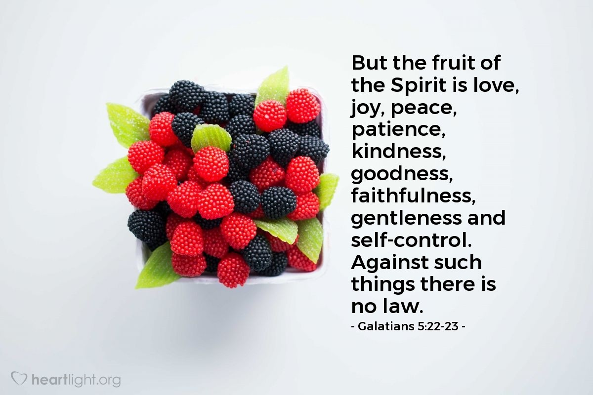 Inspirational illustration of Galatians 5:22-23