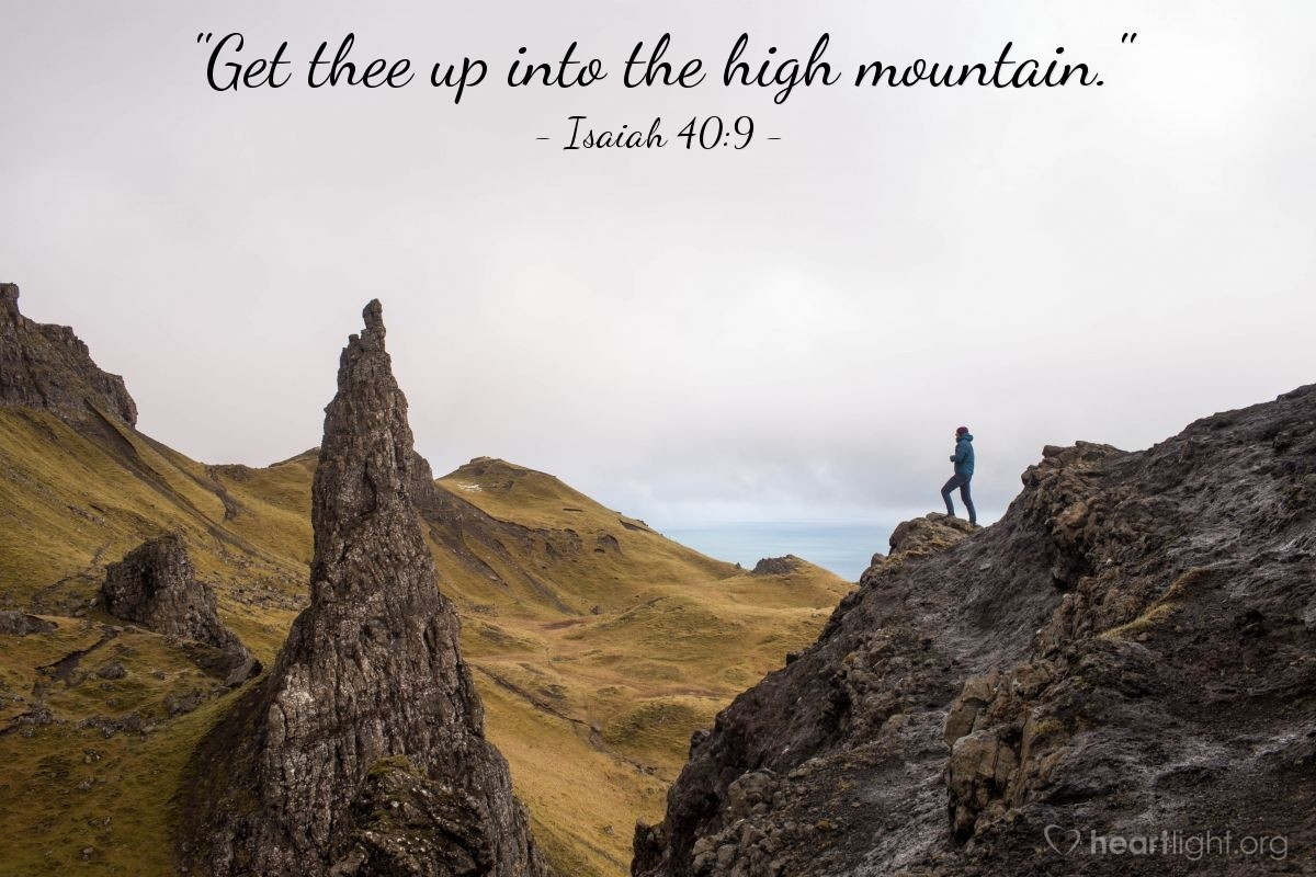 "Illustration of Isaiah 40:9 — ""Get thee up into the high mountain."""