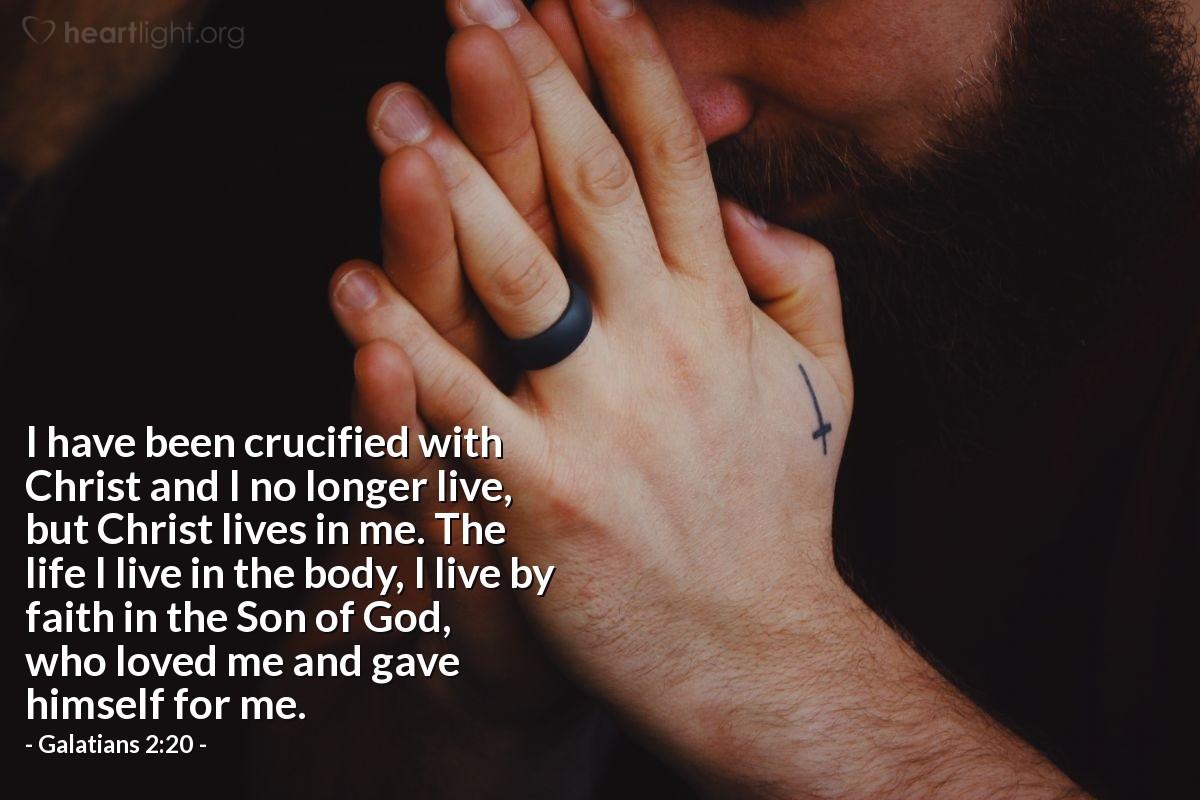 Inspirational illustration of Galatians 2:20