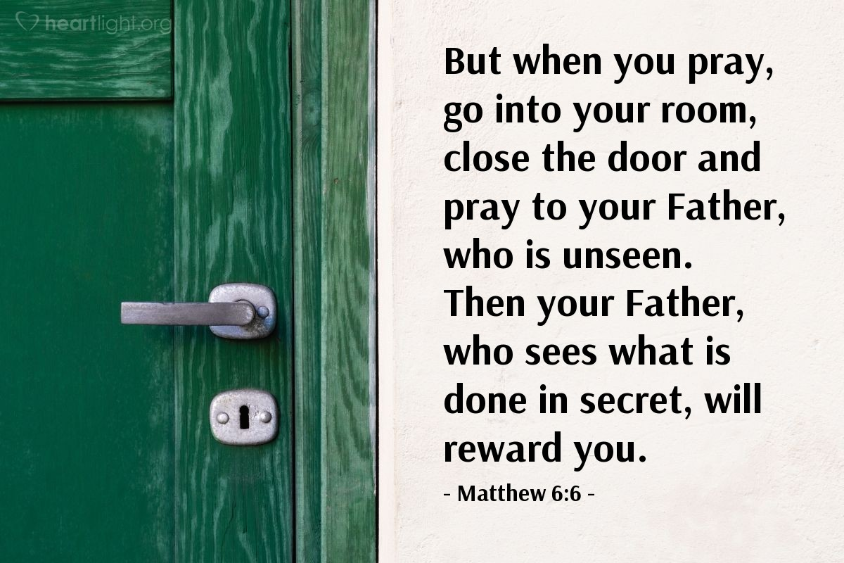 Illustration of Matthew 6:6 on Reward