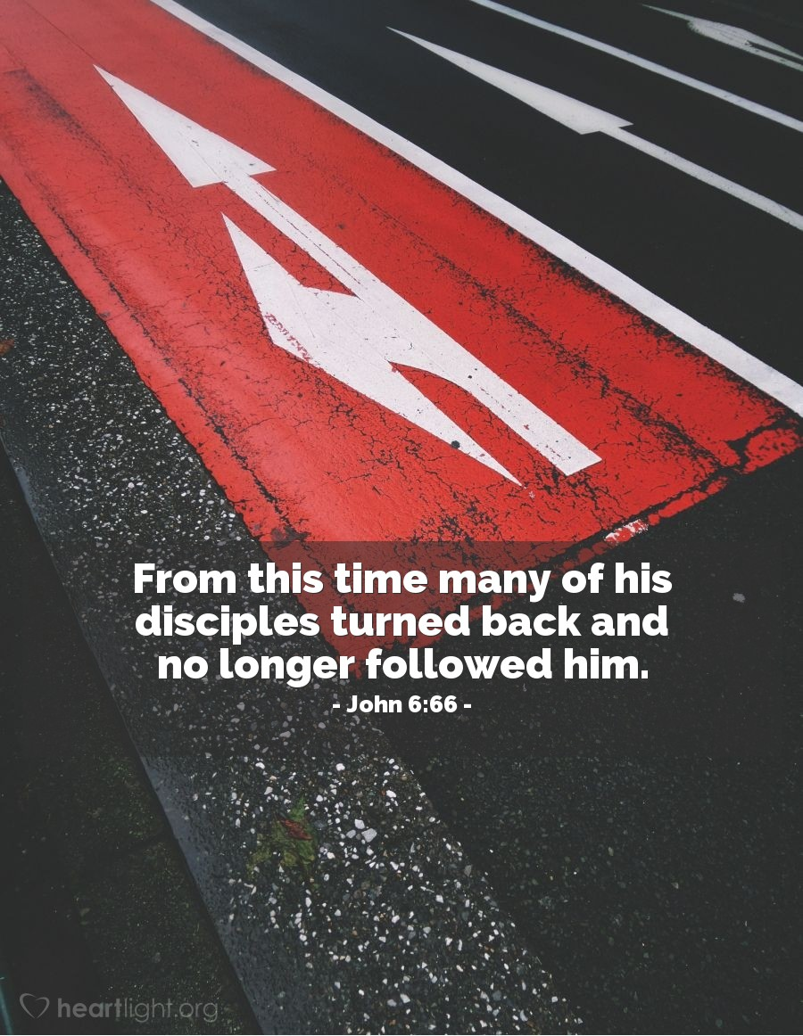 Illustration of John 6:66 on Disciple Making