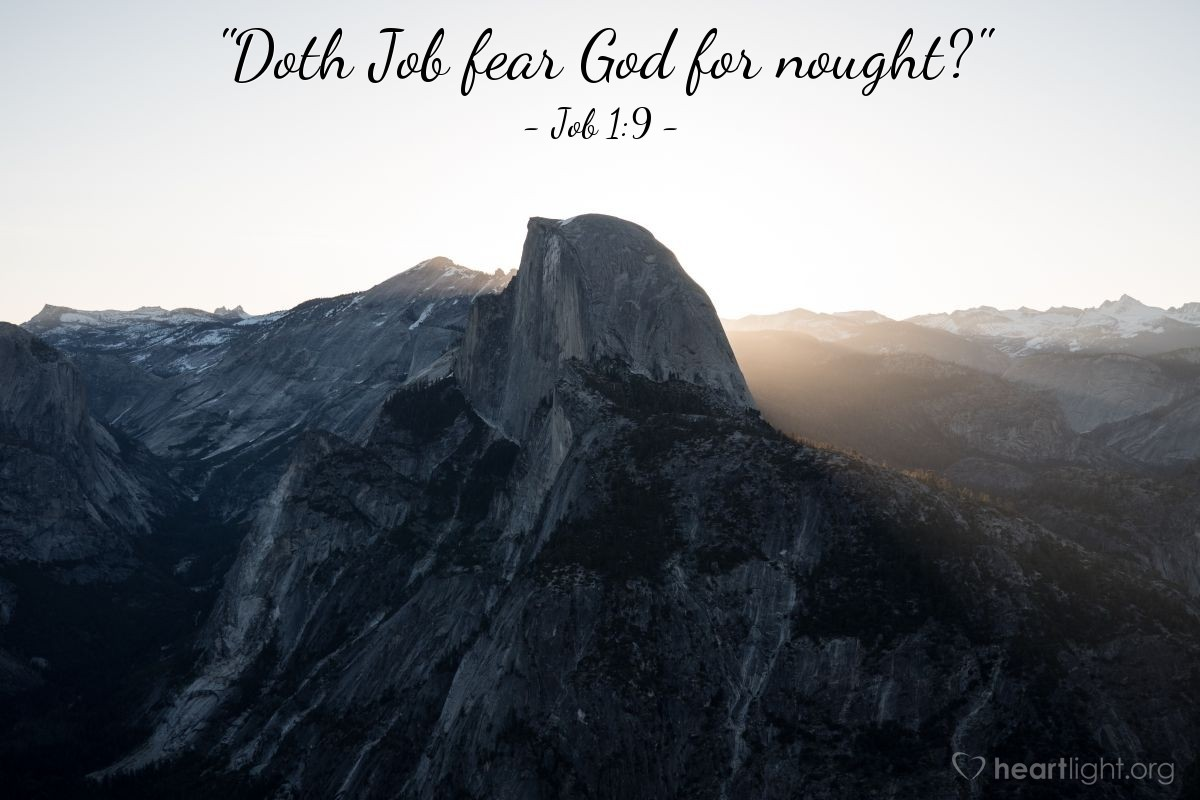 "Illustration of Job 1:9 — ""Doth Job fear God for nought?"""