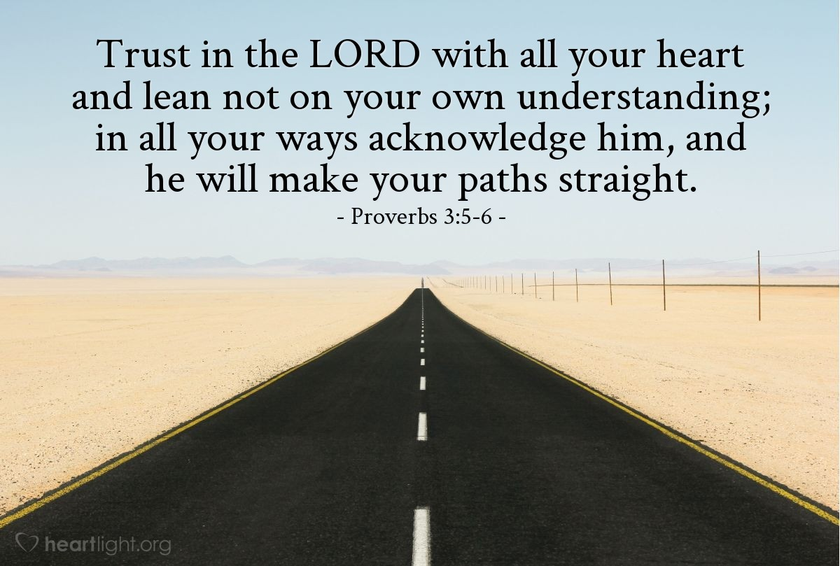 Inspirational illustration of Proverbs 3:5-6
