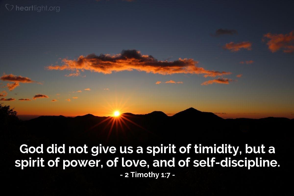 Inspirational illustration of 2 Timothy 1:7