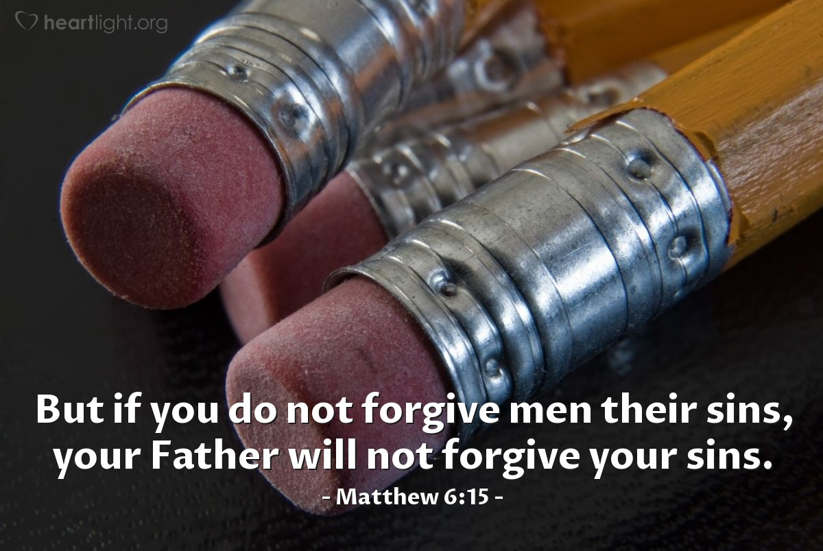 Illustration of Matthew 6:15 on Men
