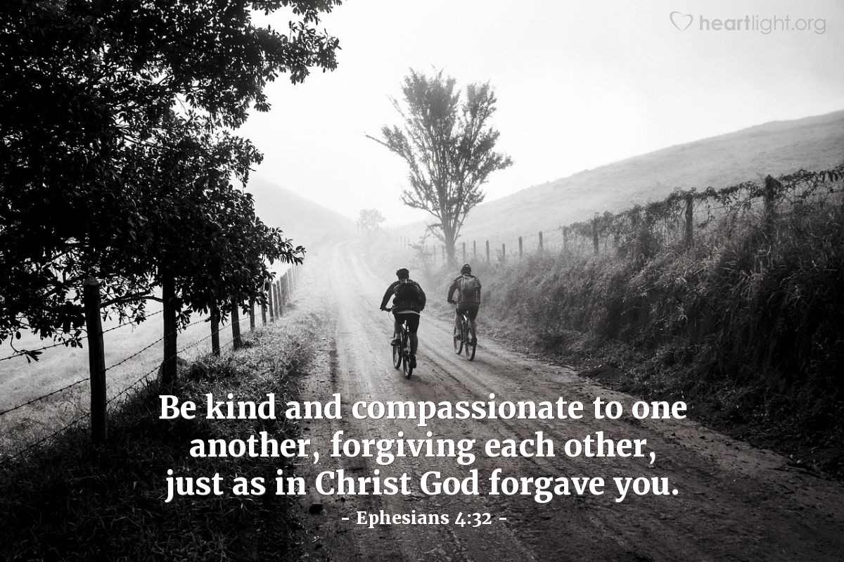 Illustration of Ephesians 4:32 on Forgiveness