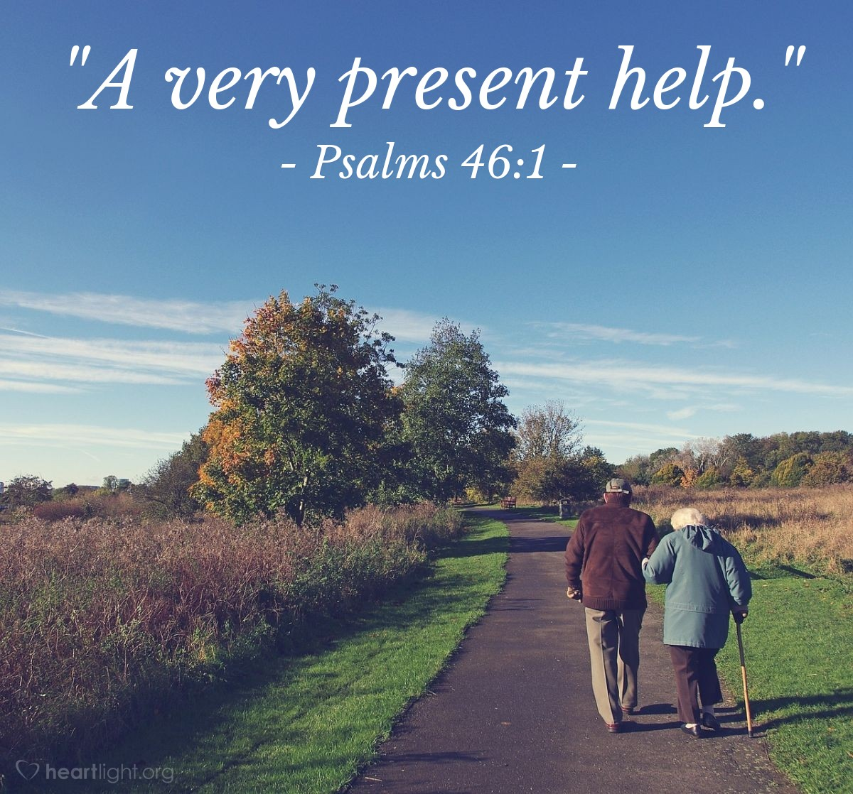 "Illustration of Psalms 46:1 — ""A very present help."""