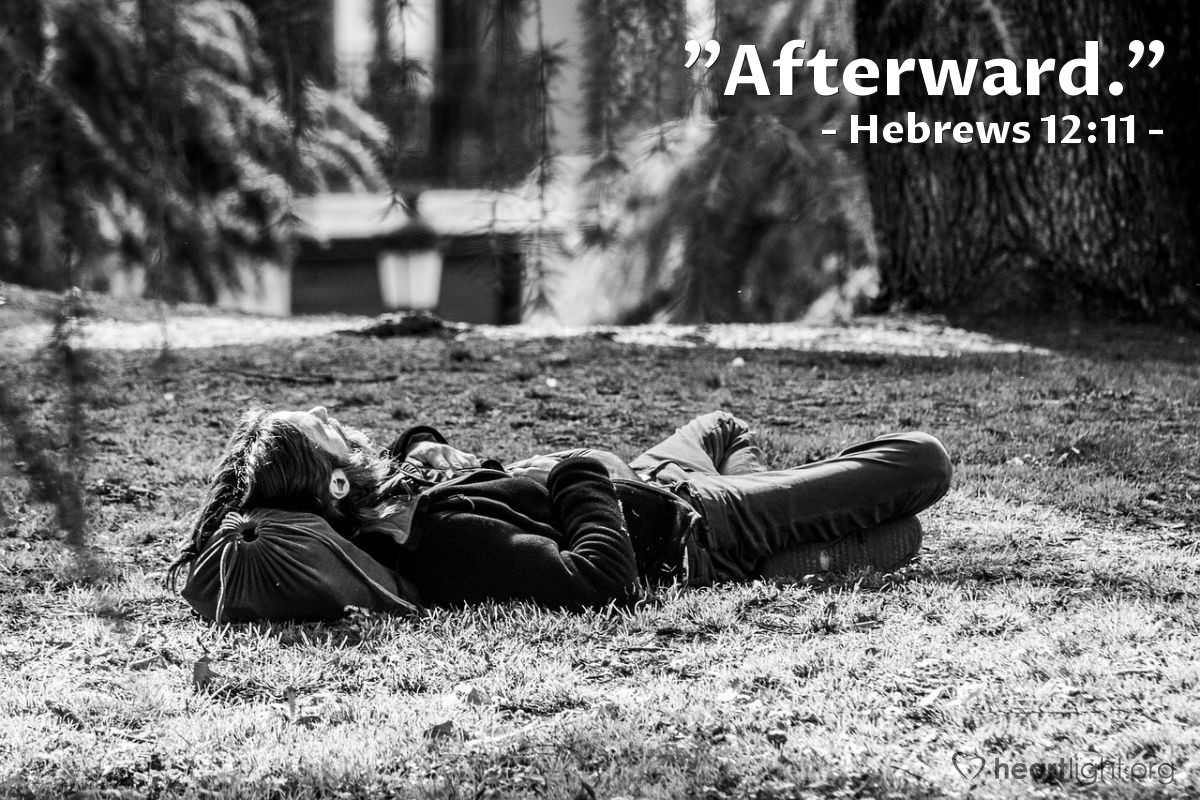 "Illustration of Hebrews 12:11 — ""Afterward."""