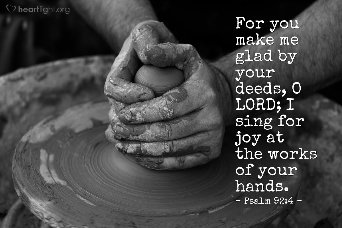 Illustration of Psalm 92:4 on Joy