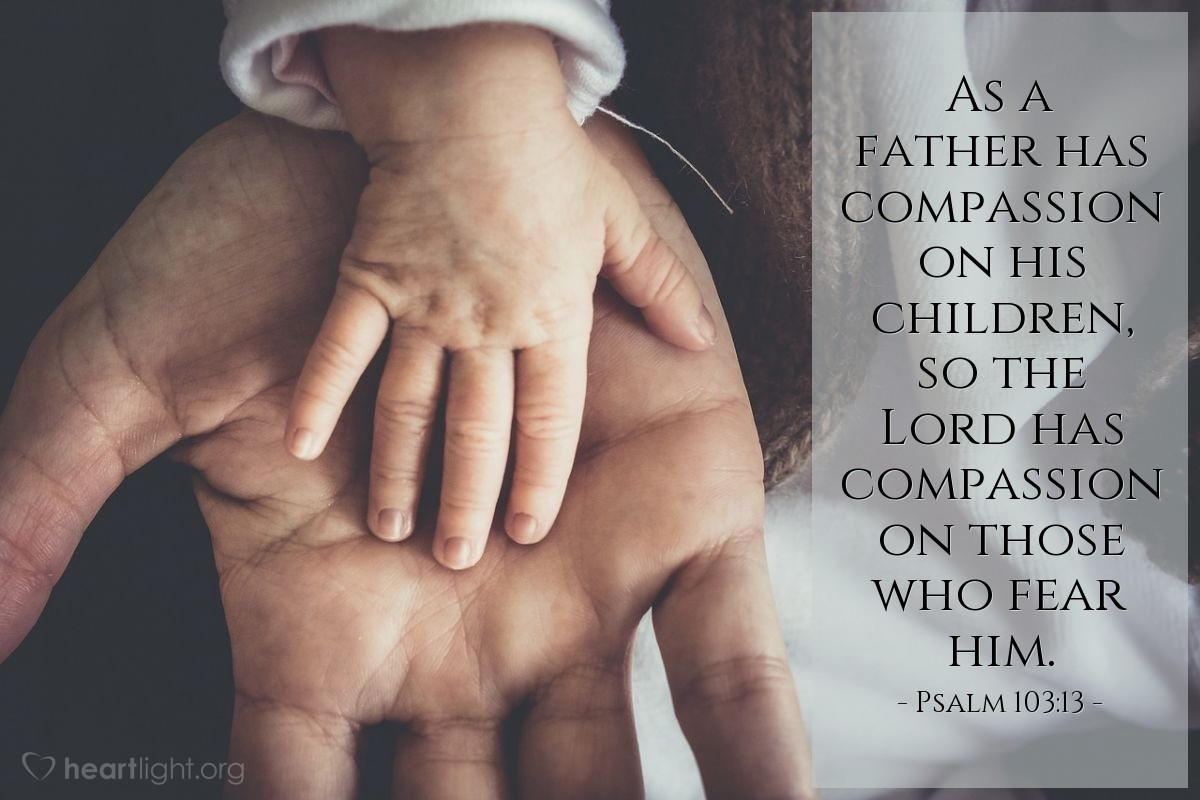 Illustration of Psalm 103:13 on Fatherhood