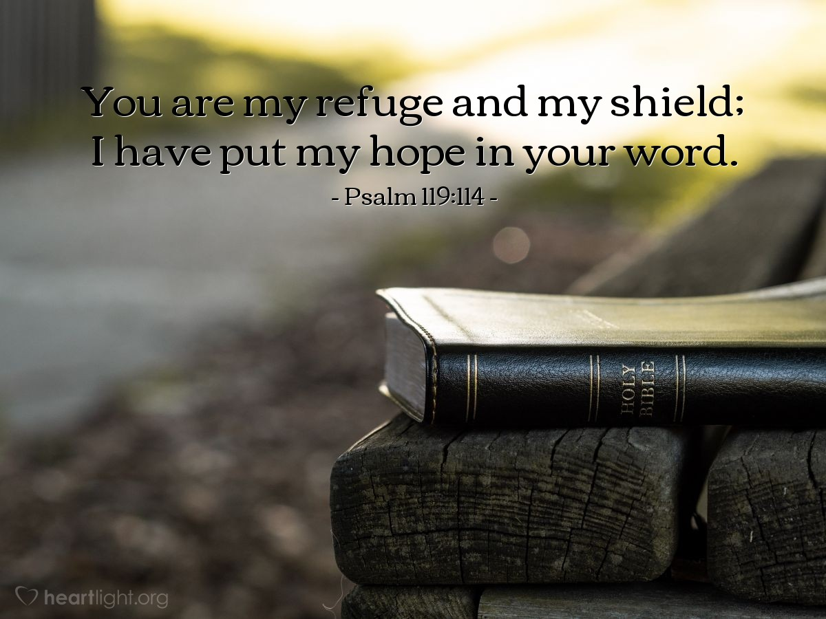 Inspirational illustration of Psalm 119:114