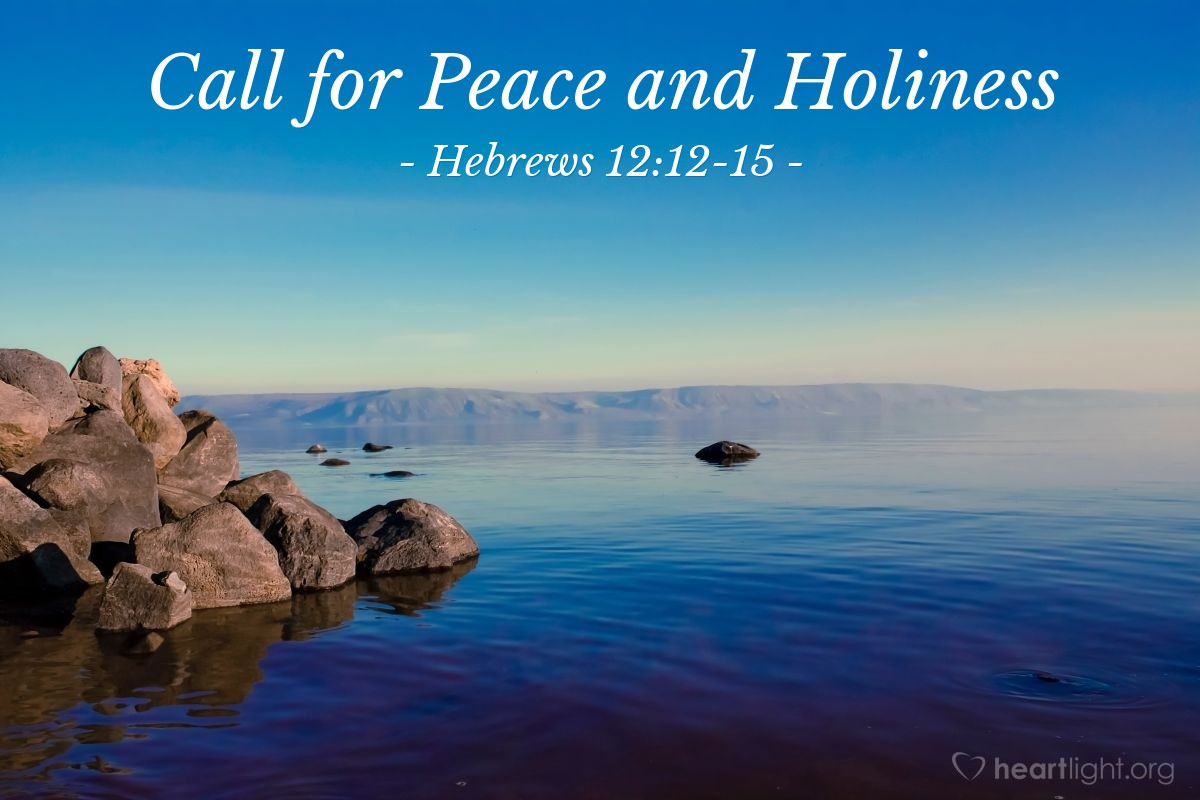 Call for Peace and Holiness — Hebrews 12:12-15