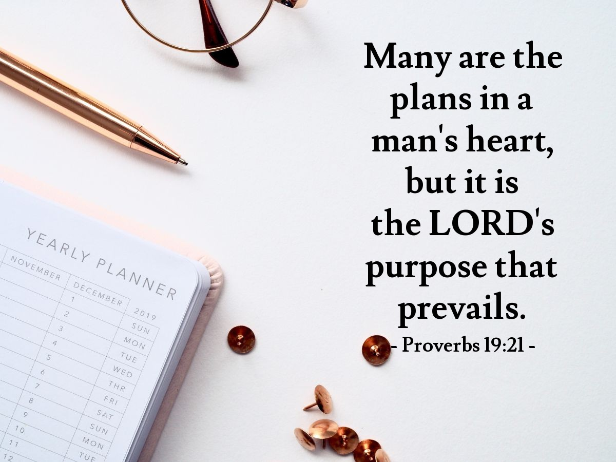 Inspirational illustration of Proverbs 19:21
