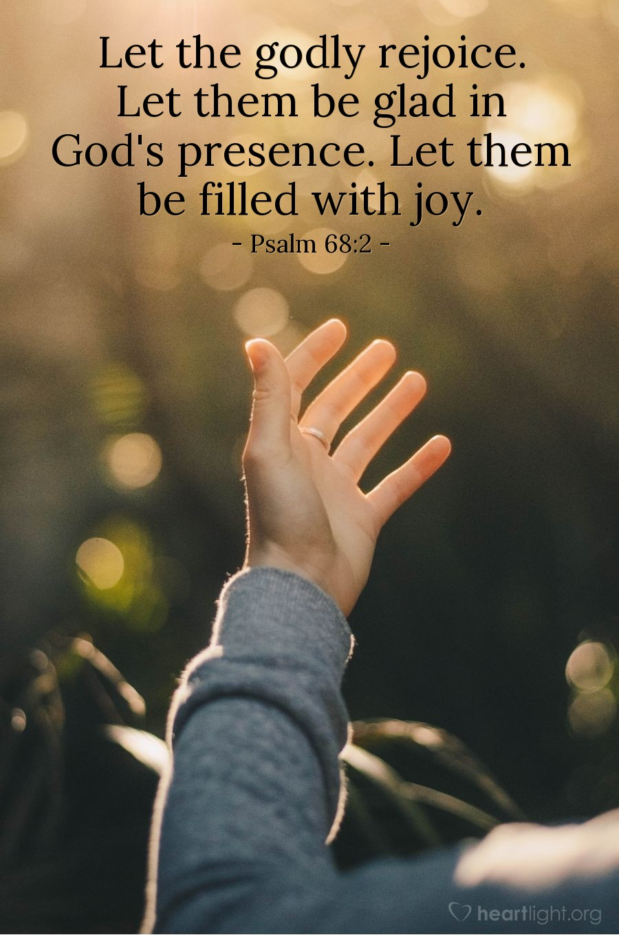 Illustration of Psalm 68:2 — Let the godly rejoice. Let them be glad in God's presence. Let them be filled with joy.