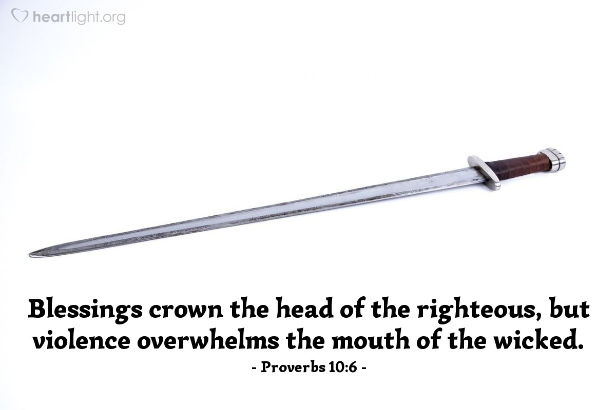 Inspirational illustration of Proverbs 10:6