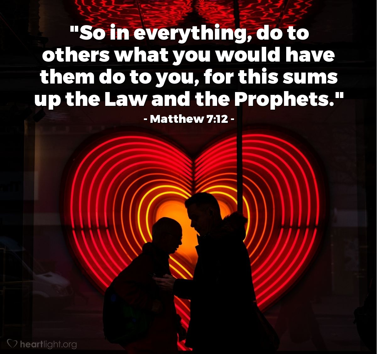 Inspirational illustration of Matthew 7:12
