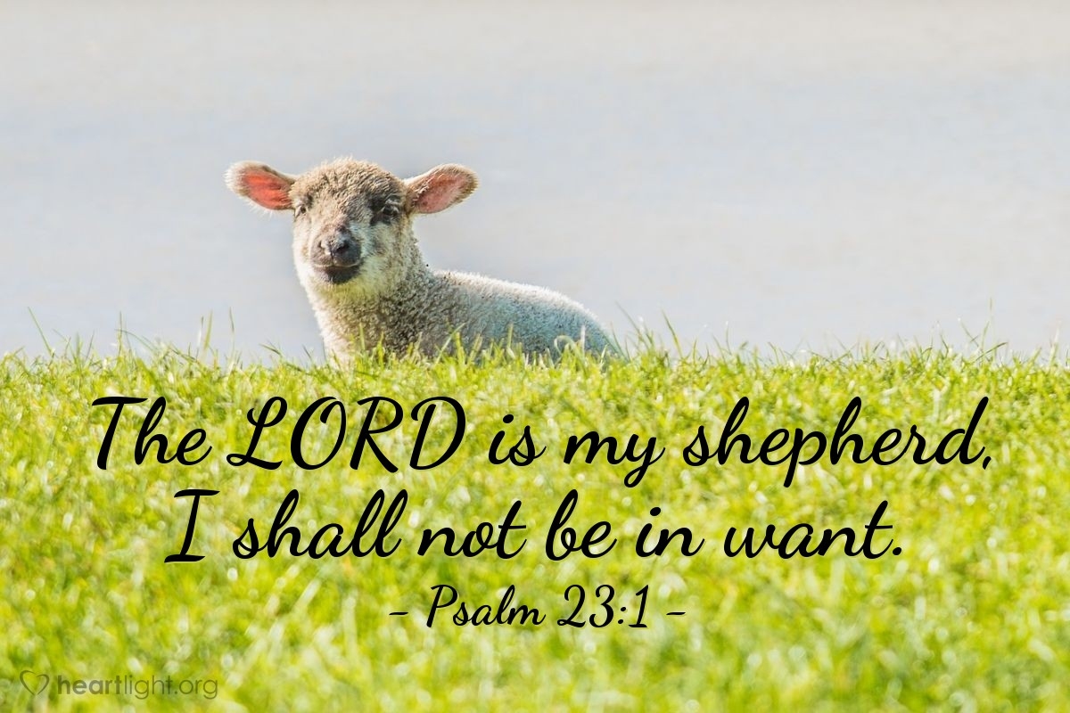 Illustration of Psalm 23:1 on Provision