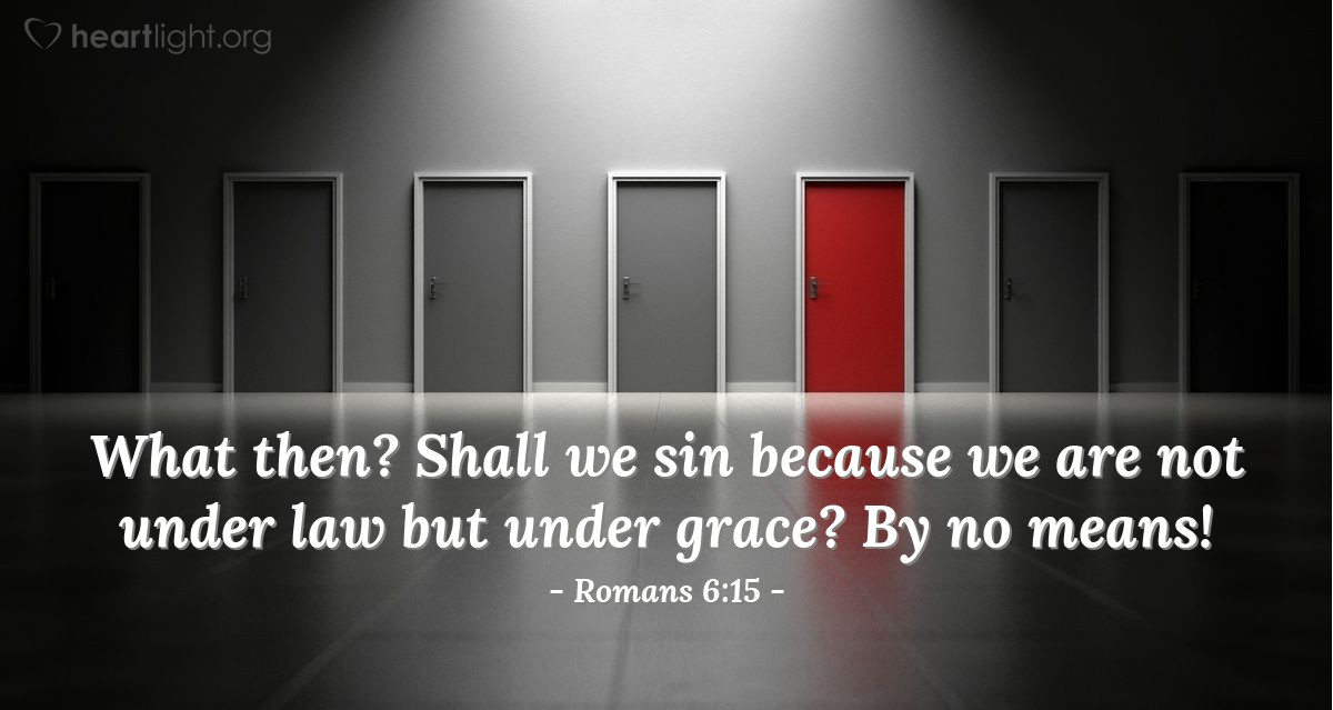 Illustration of Romans 6:15 on Sin