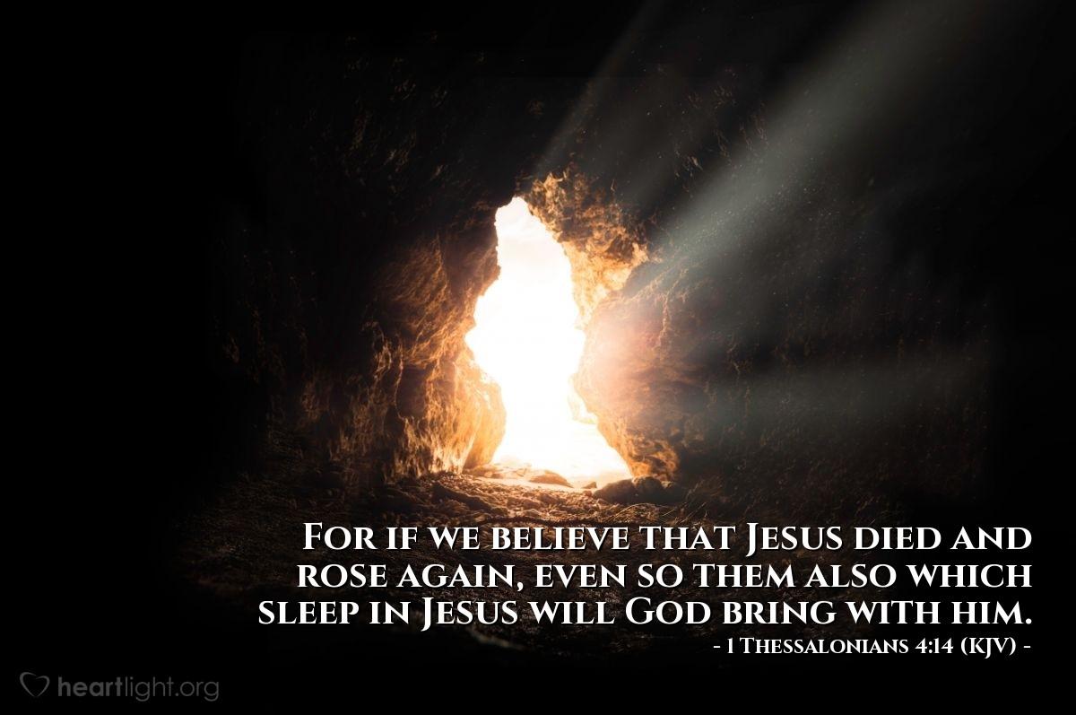 Today's Verse - 1 Thessalonians 4:14 (KJV) - Emmanuel Baptist Church