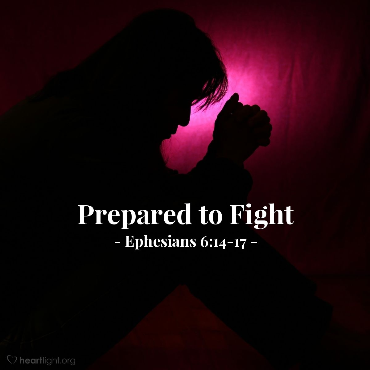 Illustration of Ephesians 6:17-18