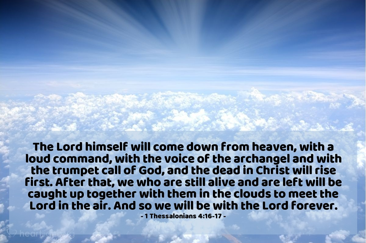 Inspirational illustration of 1 Thessalonians 4:16-17