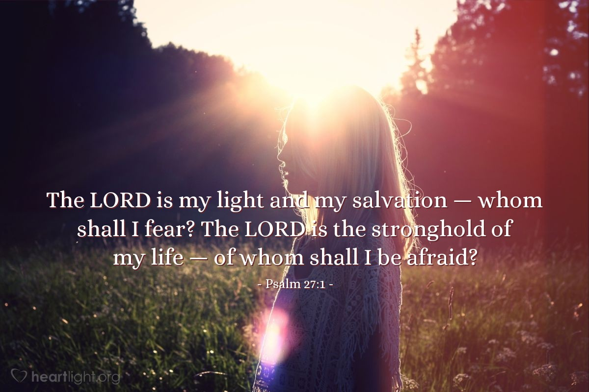 Illustration of Psalm 27:1 on Salvation