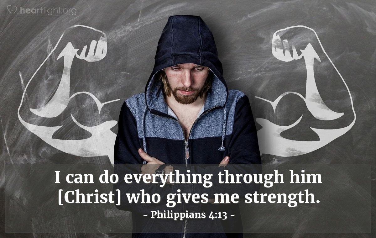 Illustration of Philippians 4:13 on Jesus