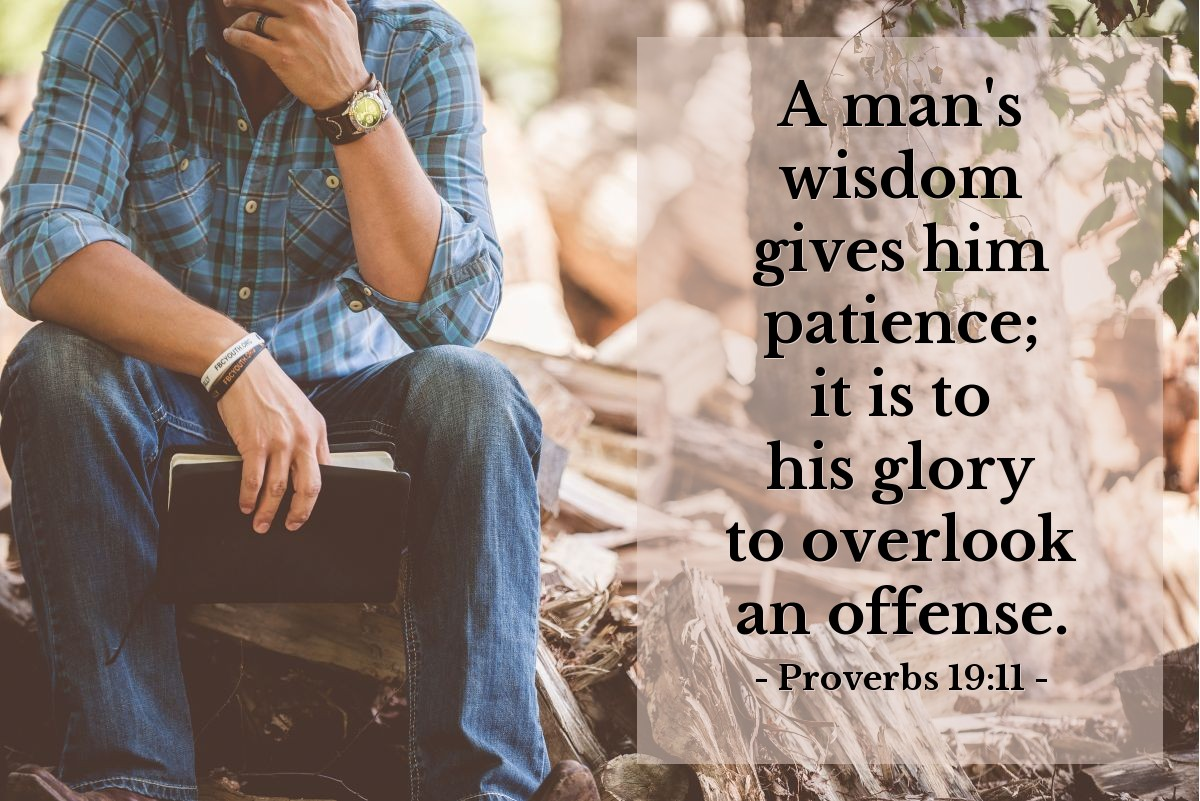 Illustration of Proverbs 19:11 — A man's wisdom gives him patience; it is to his glory to overlook an offense.