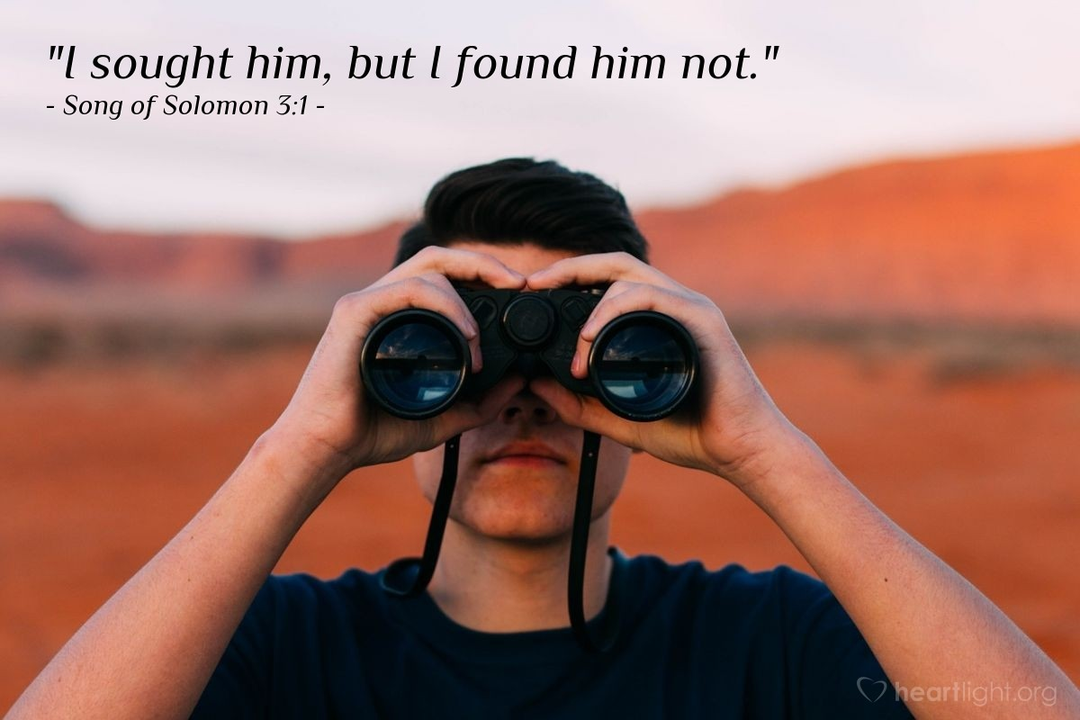 "Illustration of Song of Solomon 3:1 — ""I sought him, but I found him not."""