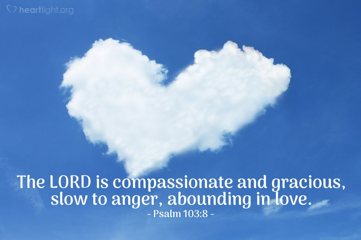 Inspirational illustration of Psalm 103:8