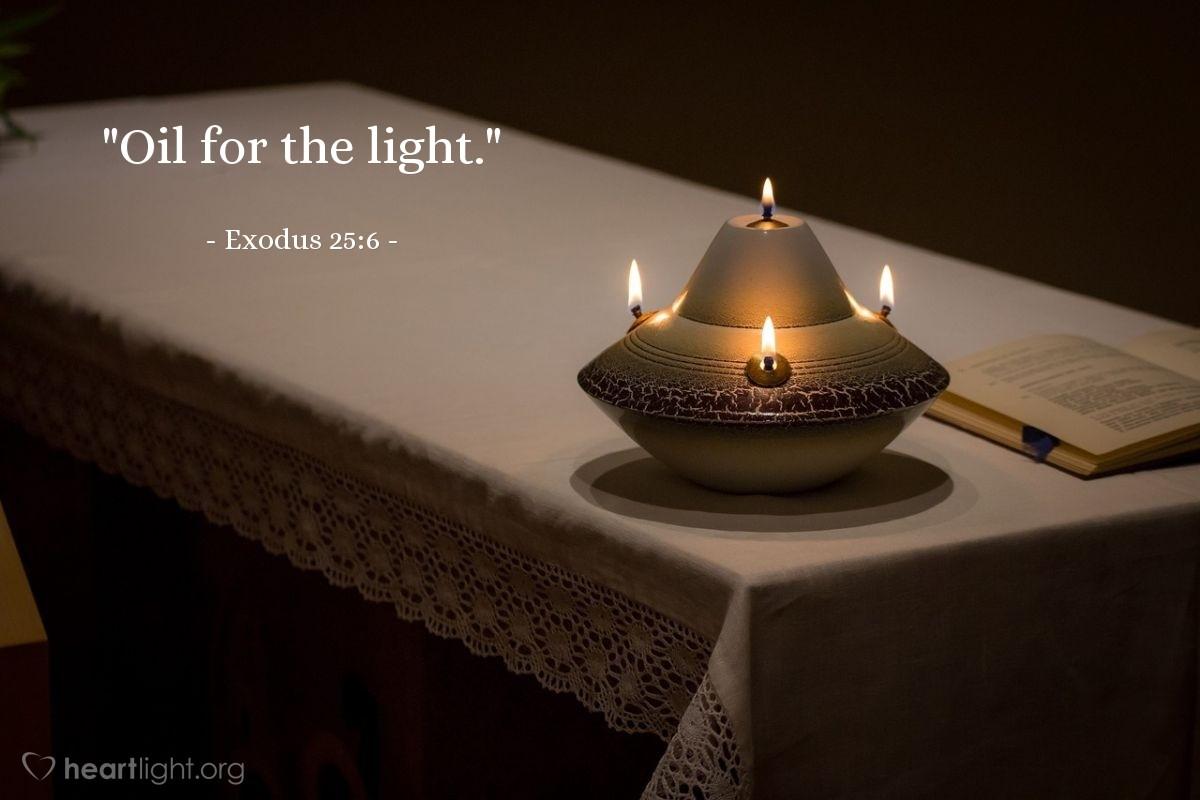"""Illustration of Exodus 25:6 — """"Oil for the light."""""""