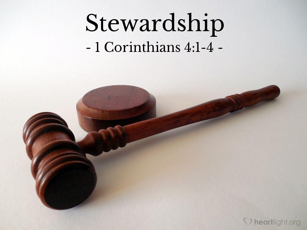 Stewardship — 1 Corinthians 4:1-4