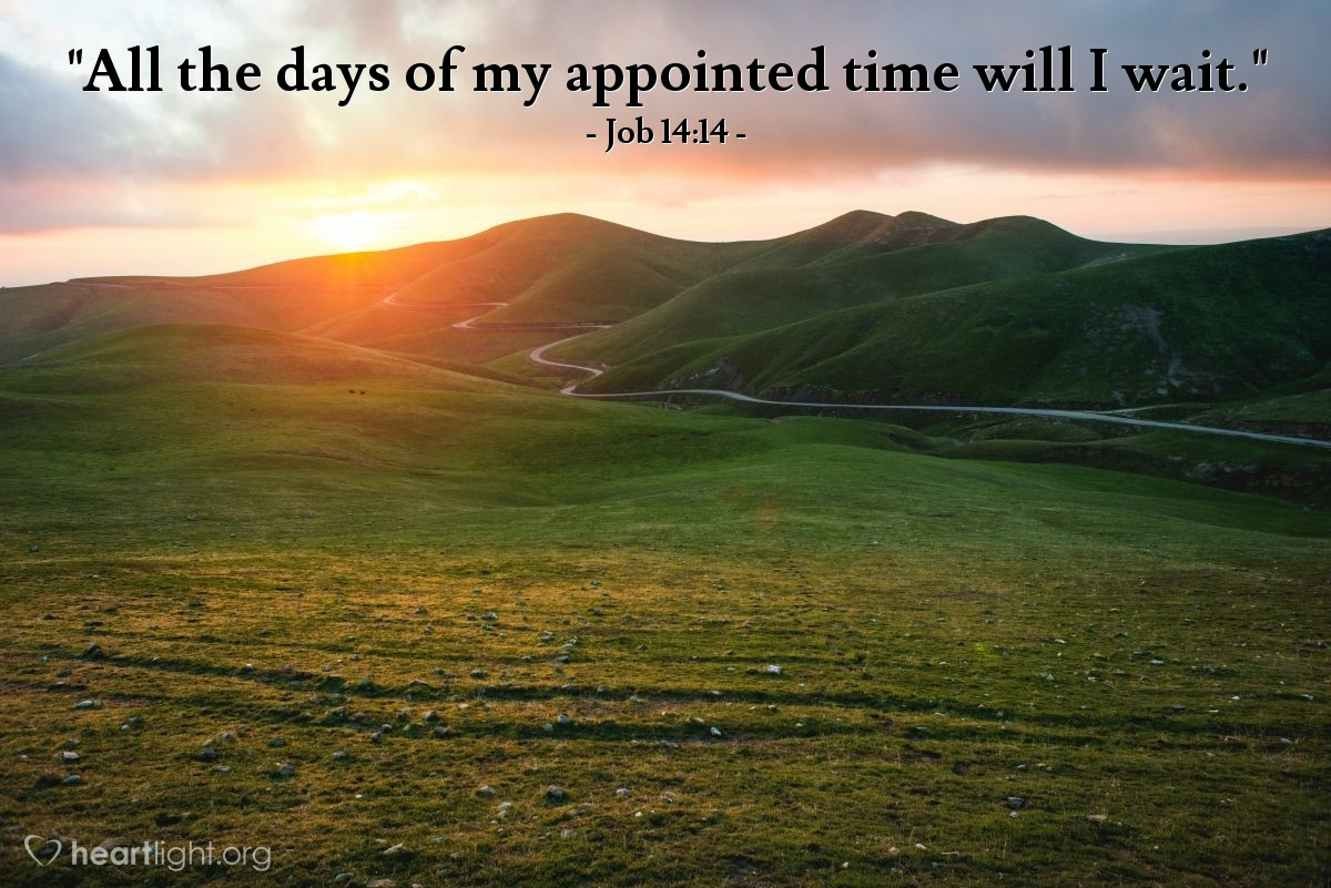 "Illustration of Job 14:14 — ""All the days of my appointed time will I wait."""