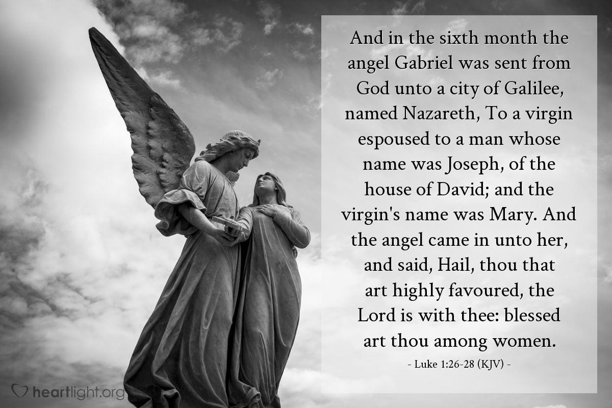 Today's Verse - Luke 1:26-28 (KJV) » Emmanuel Baptist Church