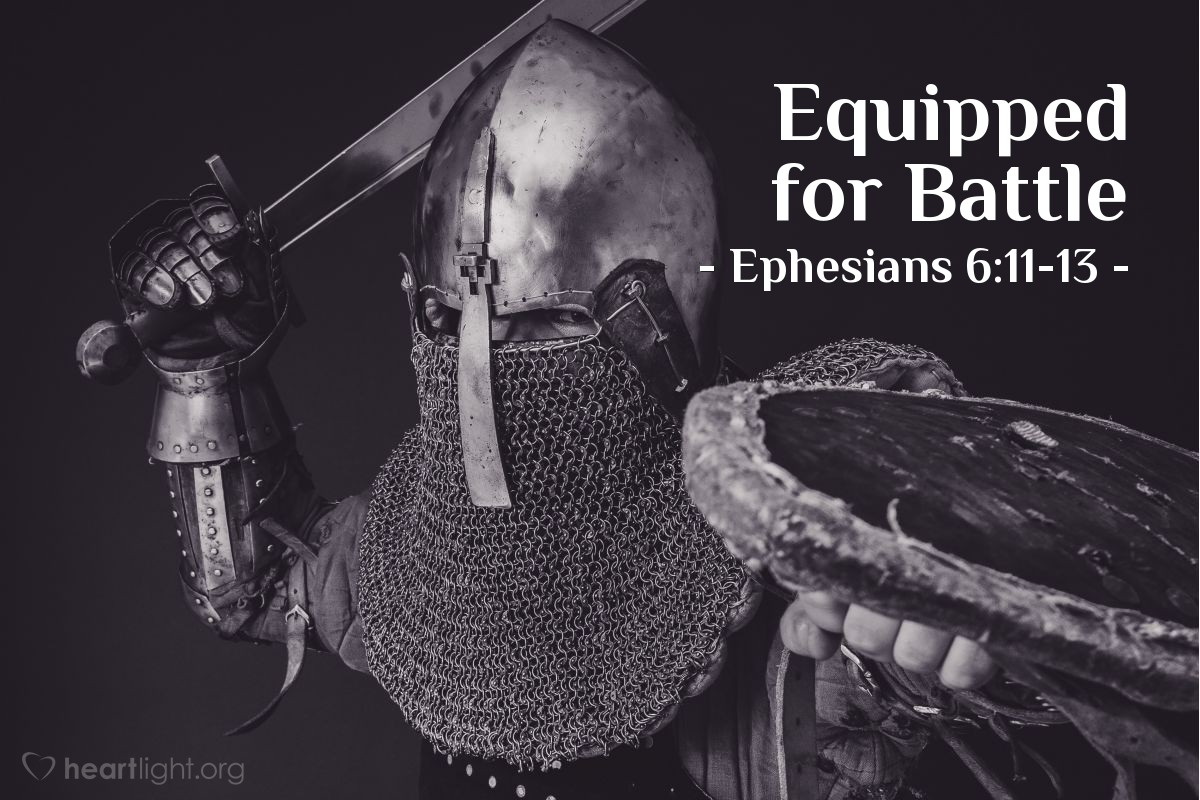 Illustration of Ephesians 6:14-17