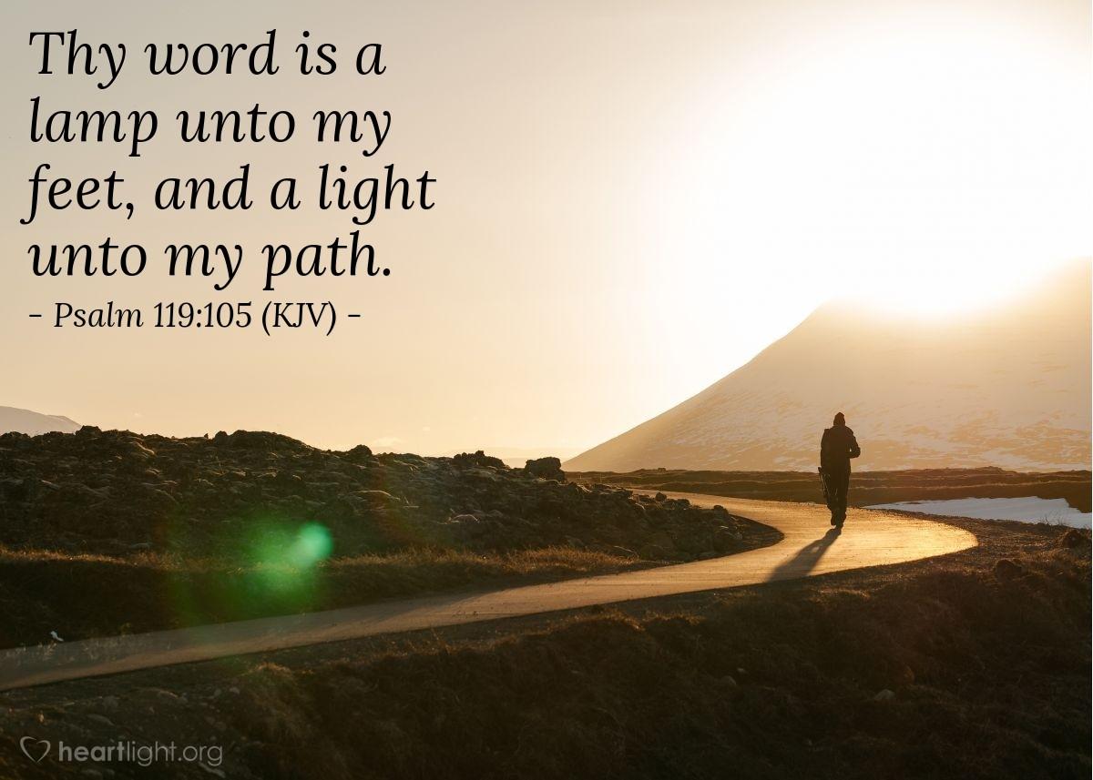 Illustration Of Psalm 119:105 (KJV) U2014 Thy Word Is A Lamp Unto