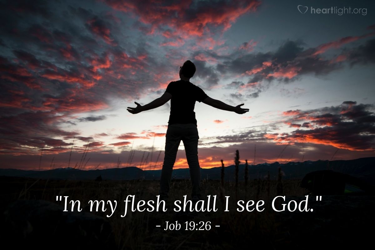 "Illustration of Job 19:26 — ""In my flesh shall I see God."""